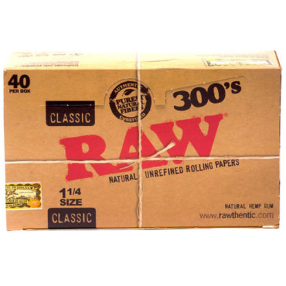"""RAW Classic 300's 1 1/4"""" Rolling Papers-0"""