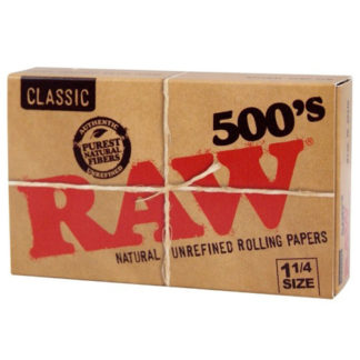 "RAW Classic 500's 1 1/4"" Rolling Papers-0"