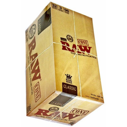 RAW Classic Cone King Size Rolling Papers-0