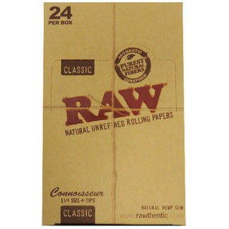 "RAW Classic Connoisseur 1 1/4"" Rolling Papers-0"