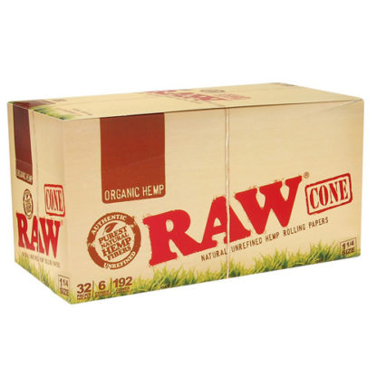 """RAW Organic Cone 1 1/4"""" Rolling Papers-0"""