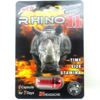 Rhino 11 Platinum 6000 Male Enhancement Pills-0