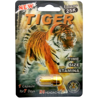 Tiger Extreme 25K Male Enhancement Pills-0