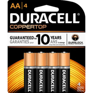 Duracell Coppertop AA Alkaline Batteries 4 Pack-0