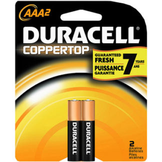 Duracell Coppertop AAA Alkaline Batteries 2 Pack-0
