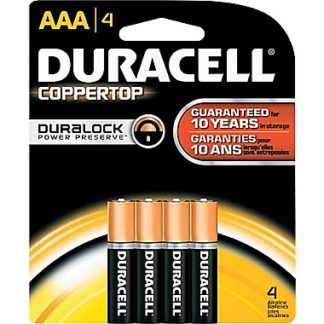 Duracell Coppertop AAA Alkaline Batteries 4 Pack-0