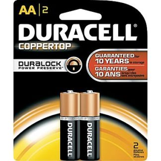 Duracell Coppertop AA Alkaline Batteries 2 Pack-0