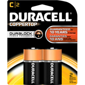 Duracell Coppertop C Alkaline Batteries 2 Pack-0
