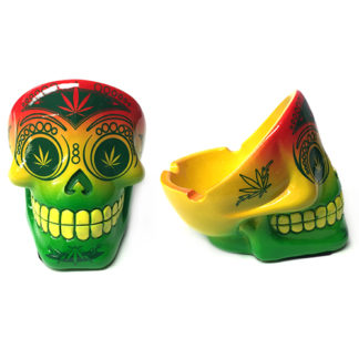 Poly Mix Skull Ashtray 6 PC Display-0